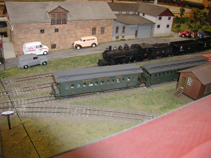 On3 Module of East Broad Top Railroad on display at